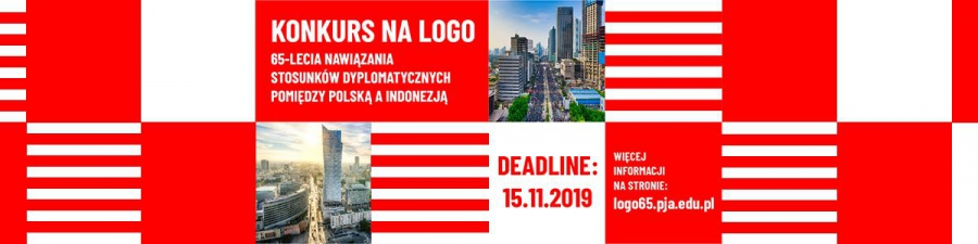 Competition for a logo of the 65th anniversary of establishing diplomatic relations between Poland-Indonesia